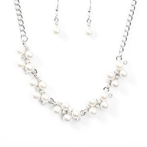 5 for $25 White/Pearl Necklace & Earrings